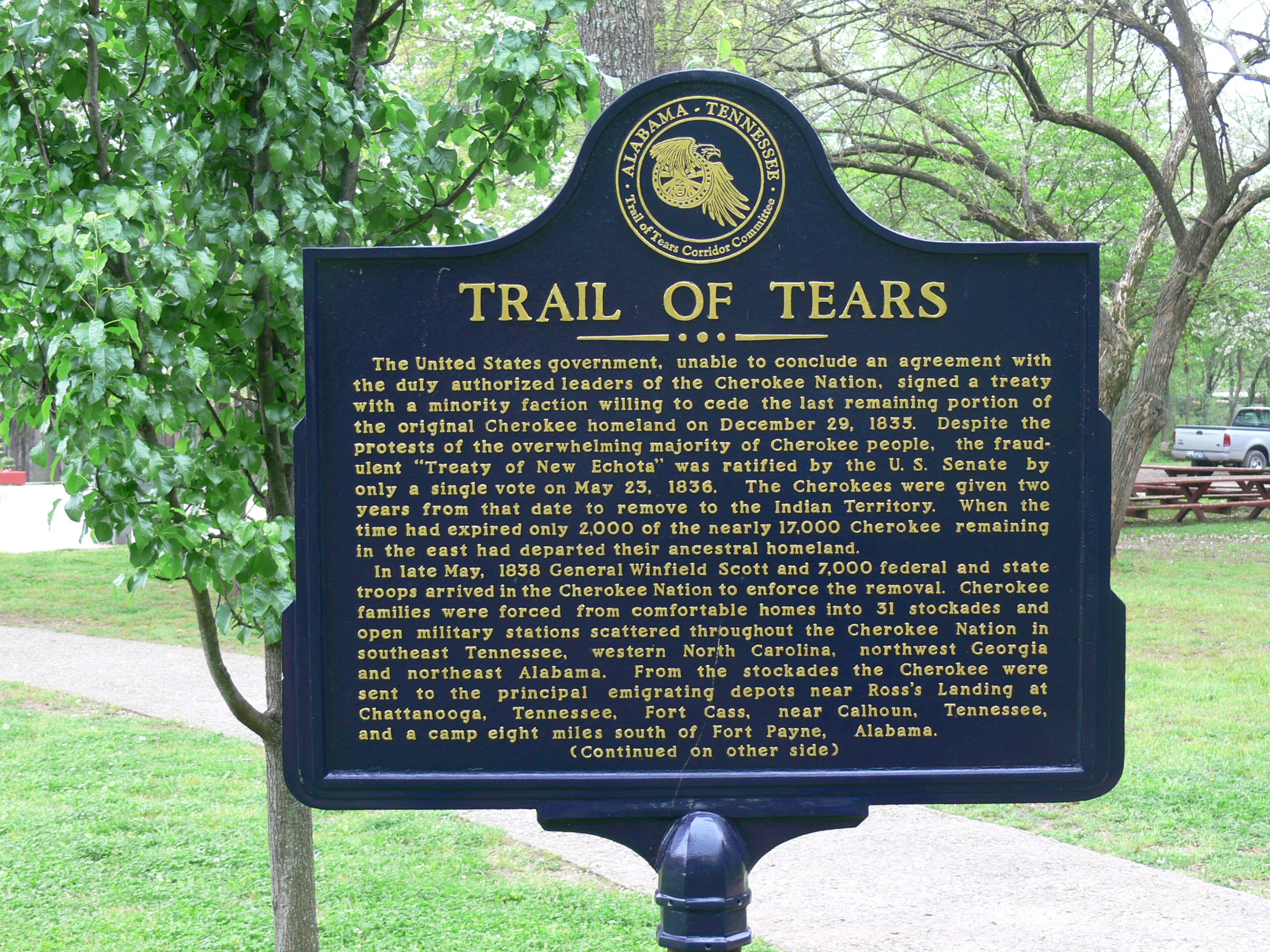 cherokee trail of tears essay The trail of tears was a sad time for the cherokee indians of georgia while most of them owned houses the us government still drove these people out of their homes.